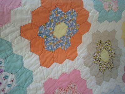 Orange quilt block