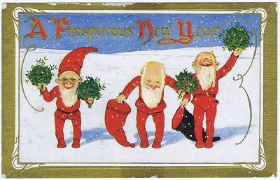 Postcard prosperous new year