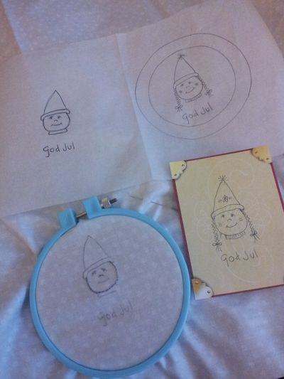Aurifil God Jul Tomte stitching