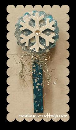 Snowflake clothespin
