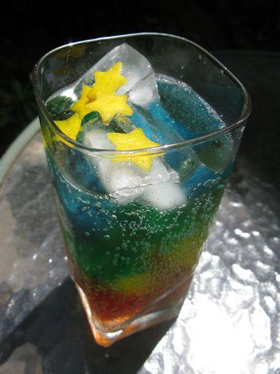 Rainbow with lemon
